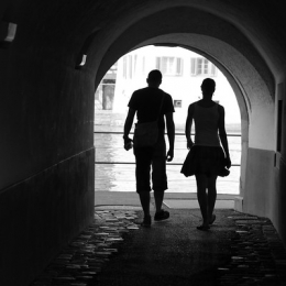 "Couple Walking • <a style=""font-size:0.8em;"" href=""http://www.flickr.com/photos/7223507@N07/16136090392/"" target=""_blank"">View on Flickr</a>"