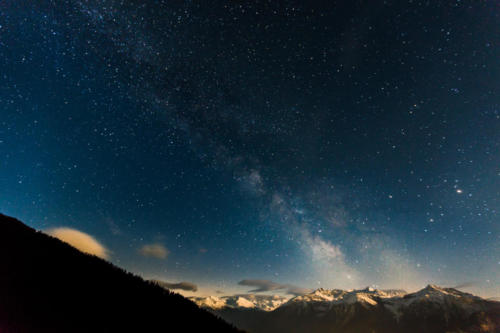 Michstrasse im Wallis - Milkyway in Valais